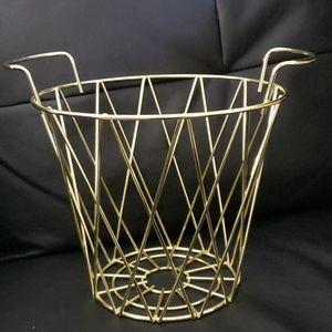 Storage Metal Basket, Gold Color
